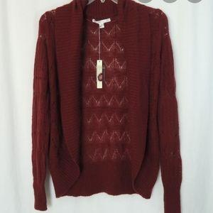 Lauren Conrad Burgundy woven sweater